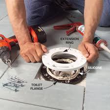 Replacing Toilet Flange In 1 2 Bath Plumbing Diy Home