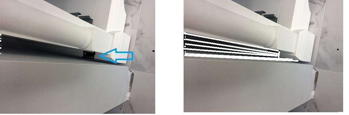 How Should I Handle This Gap Between Vanity And Wall Diy Home Improvement Forum