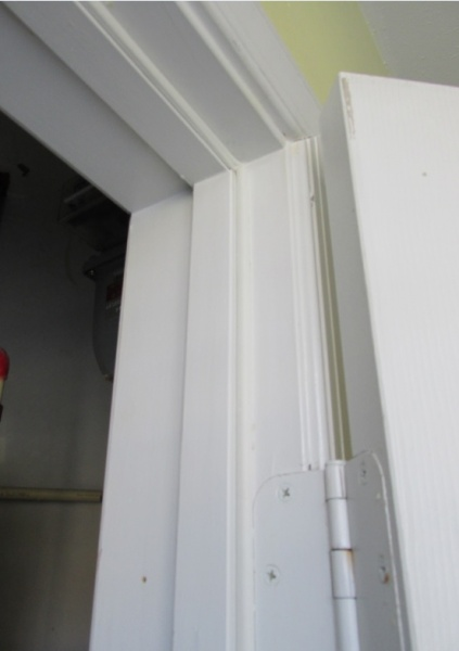 weather stripping installed on the door frame side weatherseal1jpg - Door Frame Weather Stripping