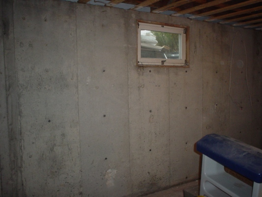 Can I frame over the builders insulation in the basement?-web-basement-wall-before.jpg