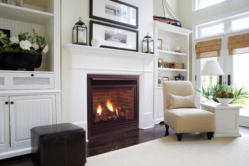 ... White Fireplace And Dark Cabinets Match? White Fireplace 03