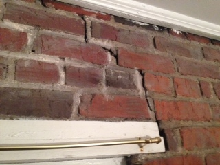 How Serious Is This Cracking In Brick Interior Wall Building Construction Diy Chatroom