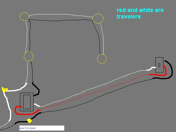 Diagram What Is The Proper Way To Wire 3way Dimmer To 4 Can Lights