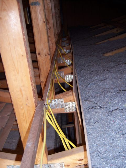 mounting junction boxes in attic are both of these locations rh diychatroom com Installing Baffles in Attic Attic Wiring for the Cameras