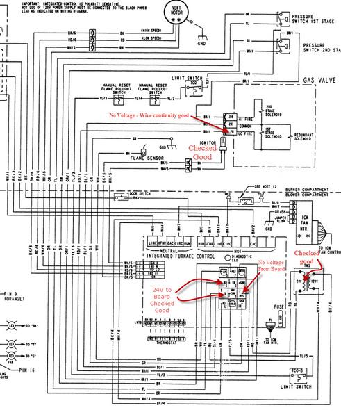 trane furnace - no gas flow - hvac