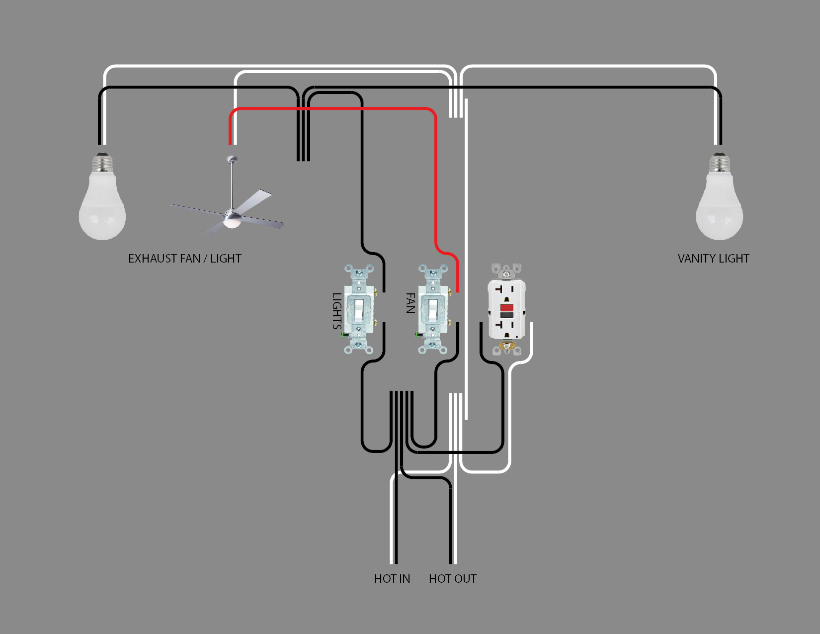 Bathroom Lighting Wiring Diagram | DIY Home Improvement Forum | Bathroom Wiring Diagrams For Lights |  | DIY Chatroom