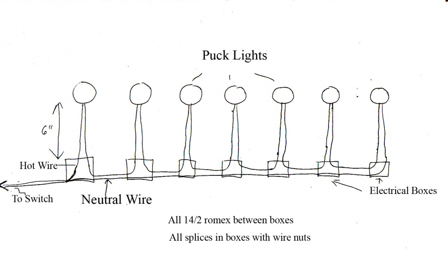 wiring 120v puck lighting - electrical