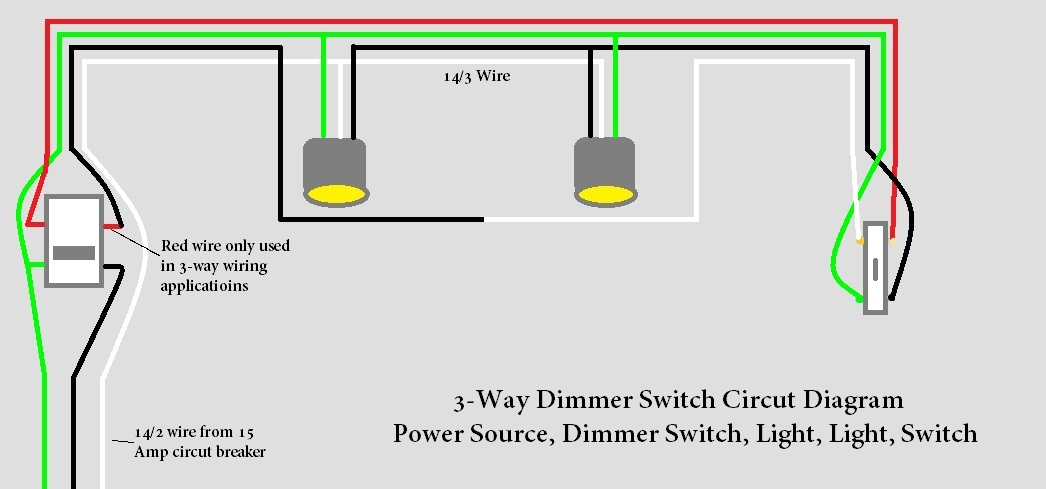 need help 3 way light circut with dimmer switch - electrical - diy chatroom  home improvement forum  diy chatroom