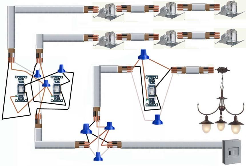wiring recessed lights in series diagram www lightneasy net rh lightneasy net Three-Way Wiring Recessed Lighting Recessed Lighting with Two Switches Wiring