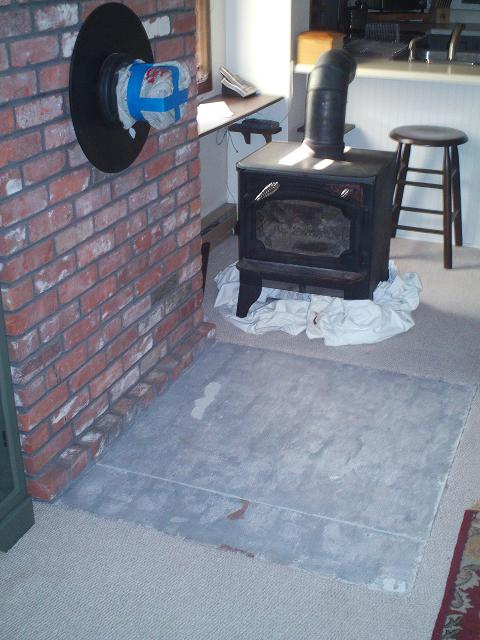 Painting A Woodstove Brick Hearth Painting Diy