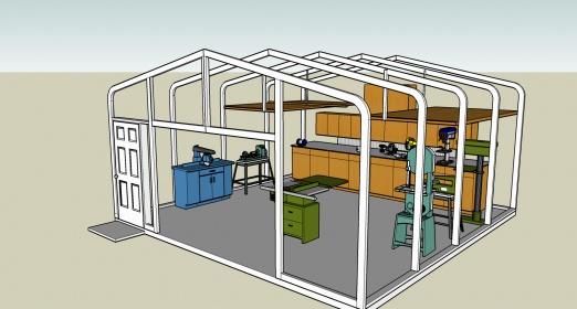 Garage swing-door install: sill bolt problem-workshop.jpg