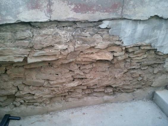 Exterior Stone Foundation Parging/Sealing - Concrete, Stone ...