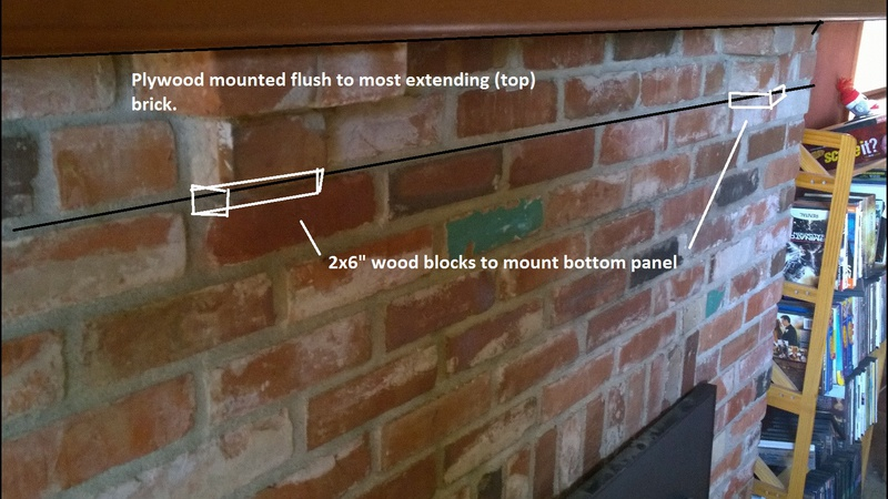How to build structure for tiling over brick fireplace - Tiling a brick fireplace ...