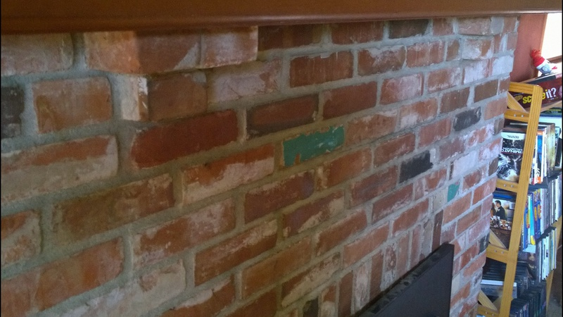 How To Build Structure For Tiling Over Brick Fireplace+mantle ...