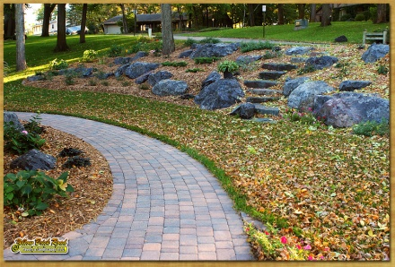 Installing Stone Paver Walkway Landscaping Amp Lawn Care