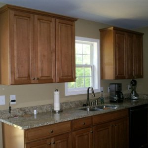 """36"""" glazed maple cabinets, granite countertops"""
