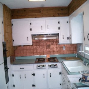 This is the picture of the kitchen on the day of closing....   It was a functioning kitchen, but barely....