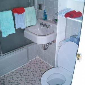 Nice 50's Bath - my wife refused to use this -- hence the 1st project