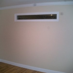 Completed -- Transom window wall