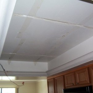 After Grid ceilng was removed and Crown Molding was installed.
