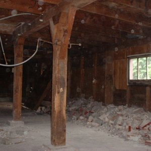 Basement - the bricks and rubble used to be the chimney.