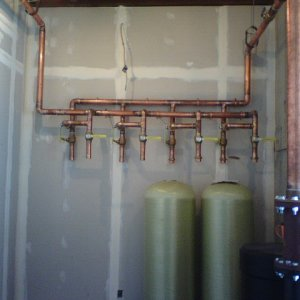 "2"" water softener feeds with bypasses"