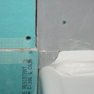 41 Drywall Denshield at Bathtub Closeup
