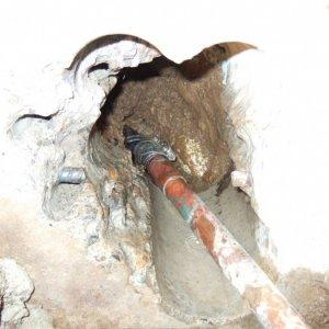leak under slab