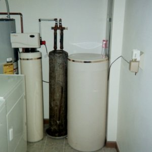 exchange tank Culligane softener. Replace with 2060 and Sulfur Guard in 2004