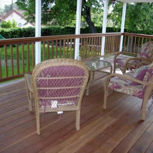 Redwood deck- The only stain/sealer to use is Cabot's hands down.  http://www.cabotstain.com/