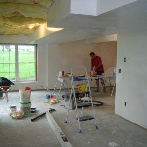 Drywalling soffits