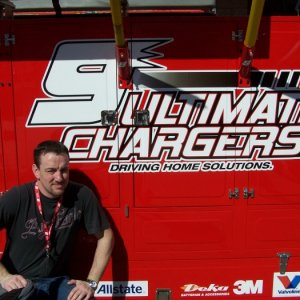 Me on pit road in California