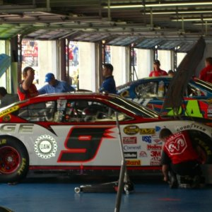 In the garage in Charlotte