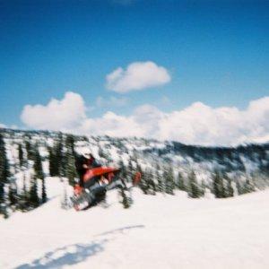 Snowmobiling in Revelstoke, Canada