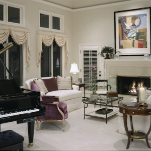 This living room was for my clients who loved to entertain formally.   favorite pieces in this room are the plum silk velvet Louis chairs. Only one...