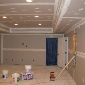 Screen Wall (Note:Wiring for projector in ceiling)