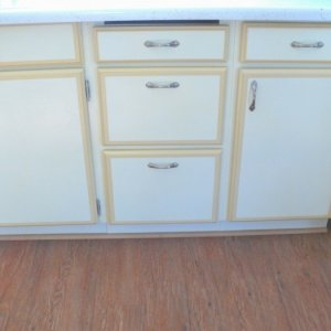 cabinets were still in good shape so painted them.