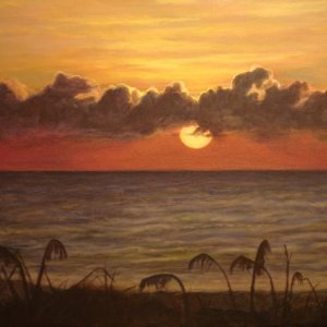 Sunrise in Vero is an acrylic on canvas study before applying it as an actual mural, I look at many things in decocrative art and because there are...