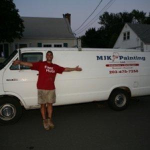 My first painting van