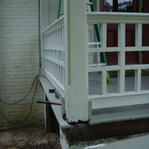 Porch before detail