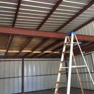 storage loft in shop area