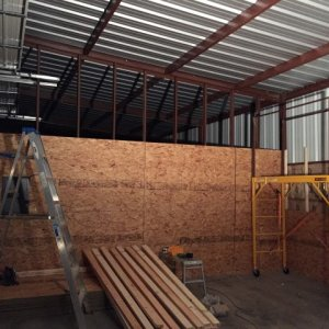 getting osb up on dividing wall