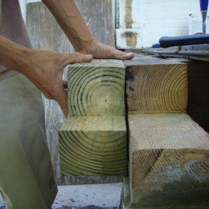Porch wood grain comparison