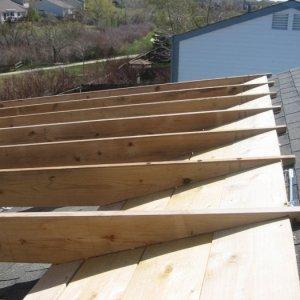 Deck Project 005  3 1/2' ledger