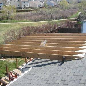 Deck Project 004  Big span!