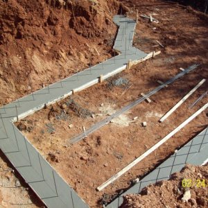 Footings and rebar are done.