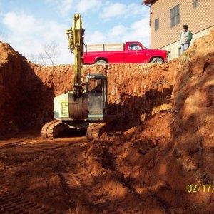 The basement is dug.