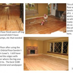 My Hardwood Floor Refinishing project.