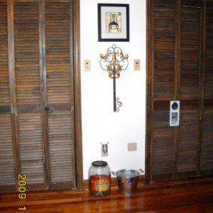 Closet Doors, Floor, and Moulding