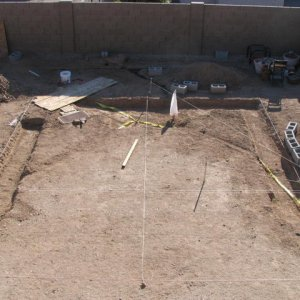 layout and excavation for footer